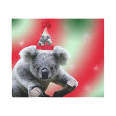 Christmas Koala Cotton Linen Wall Tapestry 60