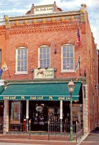The Irish Lion, Bloomington, IN.  You must have the blarney puffballs (yes, you must!). I once had an entire yard of Guinness here.