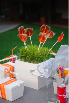 la decoración de mis mesas: Ideas para fiestas: Un centro de mesa para los niños