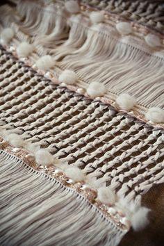 Contemporary Weaving - handwoven shawl; textiles for fashion // Julia Astreou