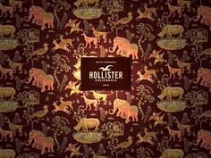 .the wallpaper from hollister stores.