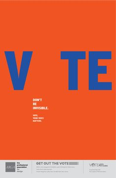 Carlos Pion. AIGA Get out the Vote Initiative.