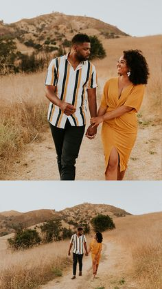This Malibu Creek State Park engagement session features the most stylish couple, dreamiest golden hour, and an incredible view of the Santa Monica Mountains and Malibu Canyon. Captured by Carrie Rogers - a California wedding and elopement photographer. Couple Photoshoot Poses, Couple Photography Poses, Couple Posing, Wedding Photographer Outfit, Malibu Creek State Park, Black Love Couples, California Wedding, Malibu California, Outdoor Couple