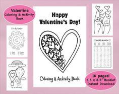 Valentine Coloring Book & Activity Book by VividBlissPrintables