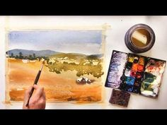 Part 1 Watercolor Painting Demo Abacela View by Vinita Pappas
