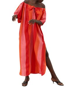 Shop a great selection of Mara Hoffman Kamala Off Shoulder Linen Cover-Up Maxi Dress. Find new offer and Similar products for Mara Hoffman Kamala Off Shoulder Linen Cover-Up Maxi Dress. Mara Hoffman Swimwear, Vertical Striped Dress, Bergdorf Goodman, Nordstrom Dresses, Off The Shoulder, Cover Up, Clothes For Women, How To Wear, Dress Online
