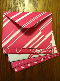 Make your own envelopes out of scrapbook paper.