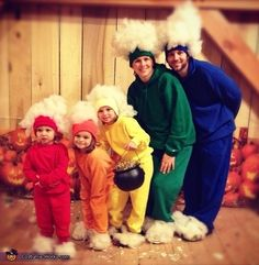 A rainbow? Seriously, get out of here with this adorableness. | 33 Family Halloween Costumes That Are Absolutely Fantastic