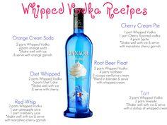 livin' the glam life: Whipped Vodka Recipes