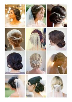 Wedding hair shortlist! Low bun, with veil.