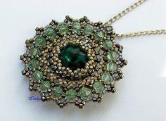 Ivolga green beaded pendant.