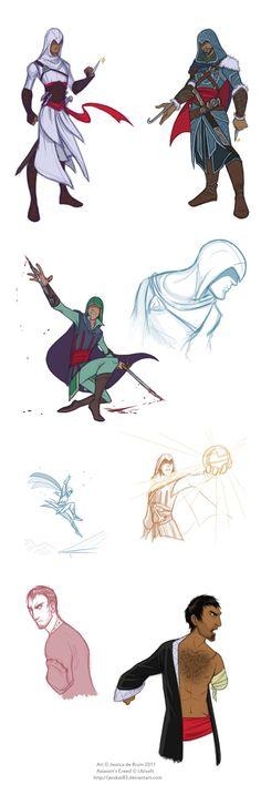 Assassin's Creed sketchdump by JessKat-art on deviantART