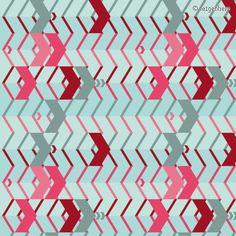 "Arrow Fabric Pattern | Motiv: ""PfeileZickZack"" (#69244) © feigenherz"