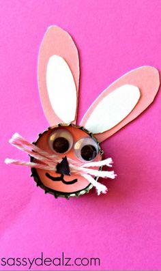 bunny bottle cap craft
