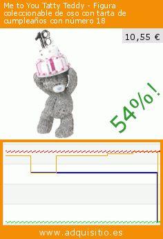 Me to You Tatty Teddy - Figura coleccionable de oso con tarta de cumpleaños con número 18 (Cocina). Baja 54%! Precio actual 10,55 €, el precio anterior fue de 22,80 €. https://www.adquisitio.es/me-to-you/tatty-teddy-figura-5
