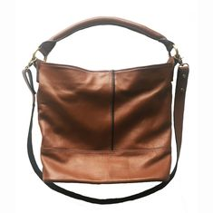 Tan Leather Slouch Bag by LeoneStarrDesigns on Etsy