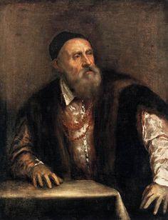 Autorretrato, 1564 Ticiano Vecellio (Itália, 1490-1576) óleo sobre tela, 96 x 75 cm Staatliche Museen, Berlim