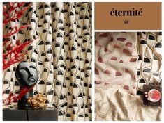 """Dekostoff """"Zita"""" aus der Kollektionslinie éternité überzeugt durch seineStickerei auf edelster Qualität. Gemustert im aktuellen ArtDeco-Style in natürlichen Farbnuancen sorgt der Stoff nicht nur für ein rundum elegantes Interieur, sondern trägt auch zur Gemütlichkeit bei. Elegant, Curtains, Shower, Prints, The Last Song, Sheer Curtains, Colors, Classy, Rain Shower Heads"""