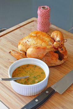 Weeknight Roast Chicken with Tarragon Lemon Pan Sauce