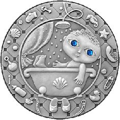 Belarus 2009 20 rubles Aquarius UNC Silver Coin  Fabulous style of the zodiac signs is featured on the amazing silver coins issued by the National Bank of Belarus. These delightful coins have been specially oxidised to ensure antique finish and give perfect clarity to all decorative details of the coin's design.