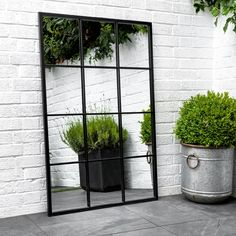 Apr 1 2020 - Indoor Outdoor Fulbrook Black Mirror in or Indoor Outdoor, Outdoor Walls, Outdoor Areas, Black Outdoor Wall Lights, Outdoor Screens, Outdoor Furniture, Garden Furniture, Furniture Design, Garden Wall Designs
