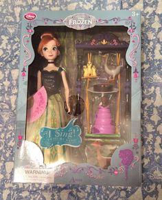 "Disney Princess Jasmine 11/"" Deluxe Singing Doll Set."