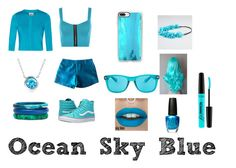 """""""Ocean/Sky Blue"""" by kaylamoraled ❤ liked on Polyvore featuring WearAll, Marc Jacobs, Vans, Bling Jewelry, Dinosaur Designs, Issa, Casetify, Full Tilt, OPI and Milani"""