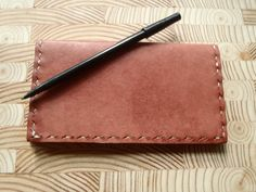 Handmade Cordovan Leather Checkbook Cover by CSherwoodLeather