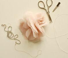 chiffon tulle flower DIY