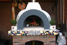 Original Italian wood fired Fornino pizza oven or Mediterranean brick oven