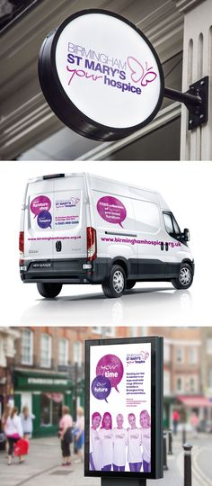 Mockups to show the Birmingham St Marys logo, as well as a van template and also a poster design.