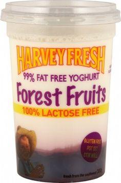 Harvey Fresh Lactose Free, Gluten Free 99% Fat Free Yoghurt Forest Fruits 300g Cup  www.harveyfresh.com.au