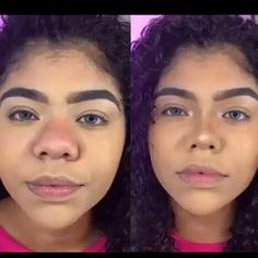 Big Nose Makeup, Cute Makeup, Makeup Looks, Makeup Tips, Beauty Makeup, Hair Makeup, Hair Beauty, Ethnic Rhinoplasty, Bulbous Nose