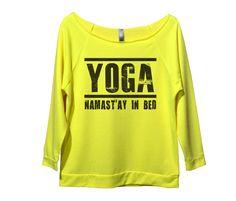 Yoga Namast'ay In Bed Womens 3/4 Long Sleeve Vintage Raw Edge Shirt