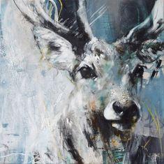 Animal Paintings, Animal Drawings, Highland Cow Painting, Art Hoe Aesthetic, Deer Illustration, Deer Art, Artist Sketchbook, Forest Creatures, A Level Art