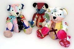 Baby Keepsake Bears - made from outfits that the baby grew out of.  Should be able to DIY. Just get a teddy bear pattern and sew, right? :)