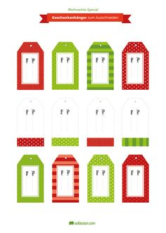 Damit jedes Geschenk auch von seinem vorgesehenen Empfänger ausgepackt wird, sollte es mit Namen versehen werden. Für diesen Zweck finden Sie hier kostenlose Geschenkanhänger zum Herunterladen und Ausdrucken. Xmas, Christmas, Filofax, Calendar, Printables, Holiday Decor, Navidad, Wrapping Gifts, Diy Presents