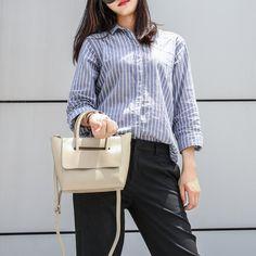 Mini Flap Closure Handbag - Khaki #hieleven #bags #handbag