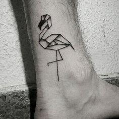 https://www.instagram.com/malamartaandink https://www.facebook.com/malamartaandink/ flamingo origami illustration tattoo