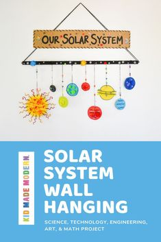 Wall hanging of the solar systemSolar system wall hanging DIY STEM STEAM outerspace DIY goblin trap ideas to help you catch a sneaky goblinWe love this activity! Use recycled materials to create a goblin Solar System Worksheets, Solar System Activities, Space Activities For Kids, Space Crafts For Kids, Diy For Kids, Solar System Projects For Kids, Solar System Crafts, Solar System Kids, Solar System Science Project