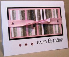 Pink and brown; simple but really nice card.