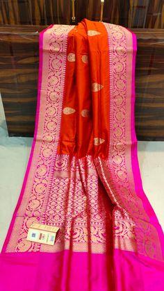 Banarasi Sarees, Silk Sarees, Saree Dress, Sari, Maroon Saree, Gown Party Wear, Bengali Wedding, Indian Wedding Outfits, Saree Styles