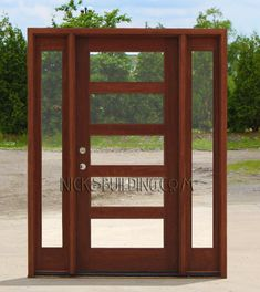 craftsman door and sidelights AC501 Clear Glass