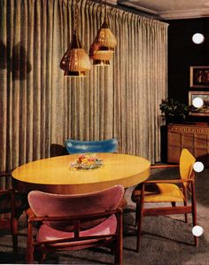 Colorful dining table, 1956   Flickr - Photo Sharing!