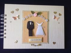 Wedding Memory Book - 20 top quality paper pages spiral bound and hand decorated