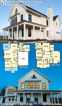 Architectural Designs House Plan 30081RT | 5 BR | 4.5 BA | 3,800+ sq. ft.| Extend suite addition on first floor to be guest/mother-n-law suite