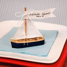 Sailboat Place Card Holders - Ideas by Beau-coup