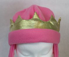 Hey, I found this really awesome Etsy listing at https://www.etsy.com/listing/257605899/princess-fleece-hat-baby-child-and-youth