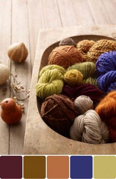 Yarn! // I love this palette! Such beautiful fall colors!!