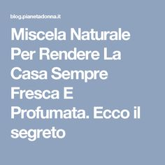 Natural Blend To Make The House Always Fresh And P- Miscela Naturale Per Rendere La Casa Sempre Fresca E P Natural blend to make the house always fresh and fragrant. Here& the secret - Hobby House, Hobbies For Women, Ideas Para Organizar, Facial Cleansers, Home Hacks, Software Development, Face Care, Organization Hacks, Cleaning